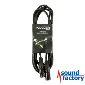 PLUGGER DMX Kabel XLR/XLR 3-pol., 3m