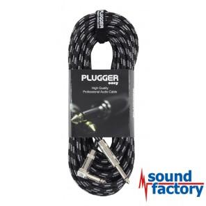PLUGGER Gitarrenkabel Klinke/Klinke gewinkelt, 10m