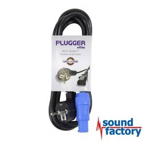 PLUGGER Powercon Schukokabel 2,5mm² - Neutrik