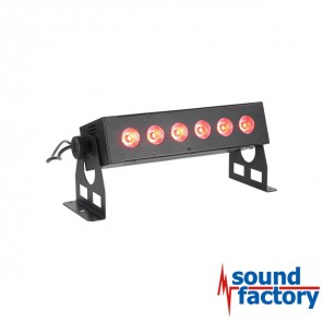 BoomToneDJ AKKU BAR 6x8W 4in1 RGBW LED